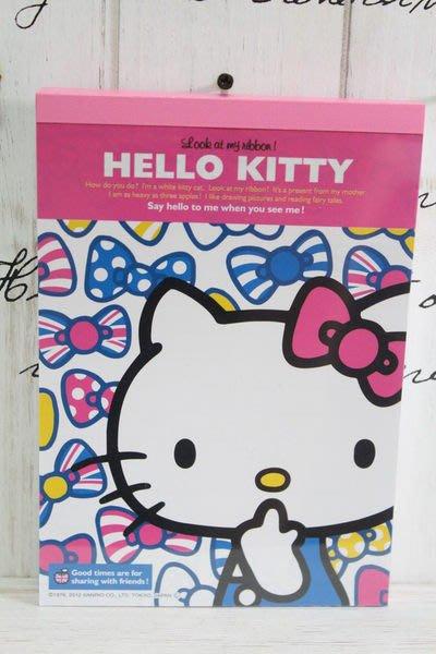 天使熊小鋪~日本帶回三麗鷗Hello kitty貓粉色記事本 筆記簿 英國風筆記本 日本製 原價390