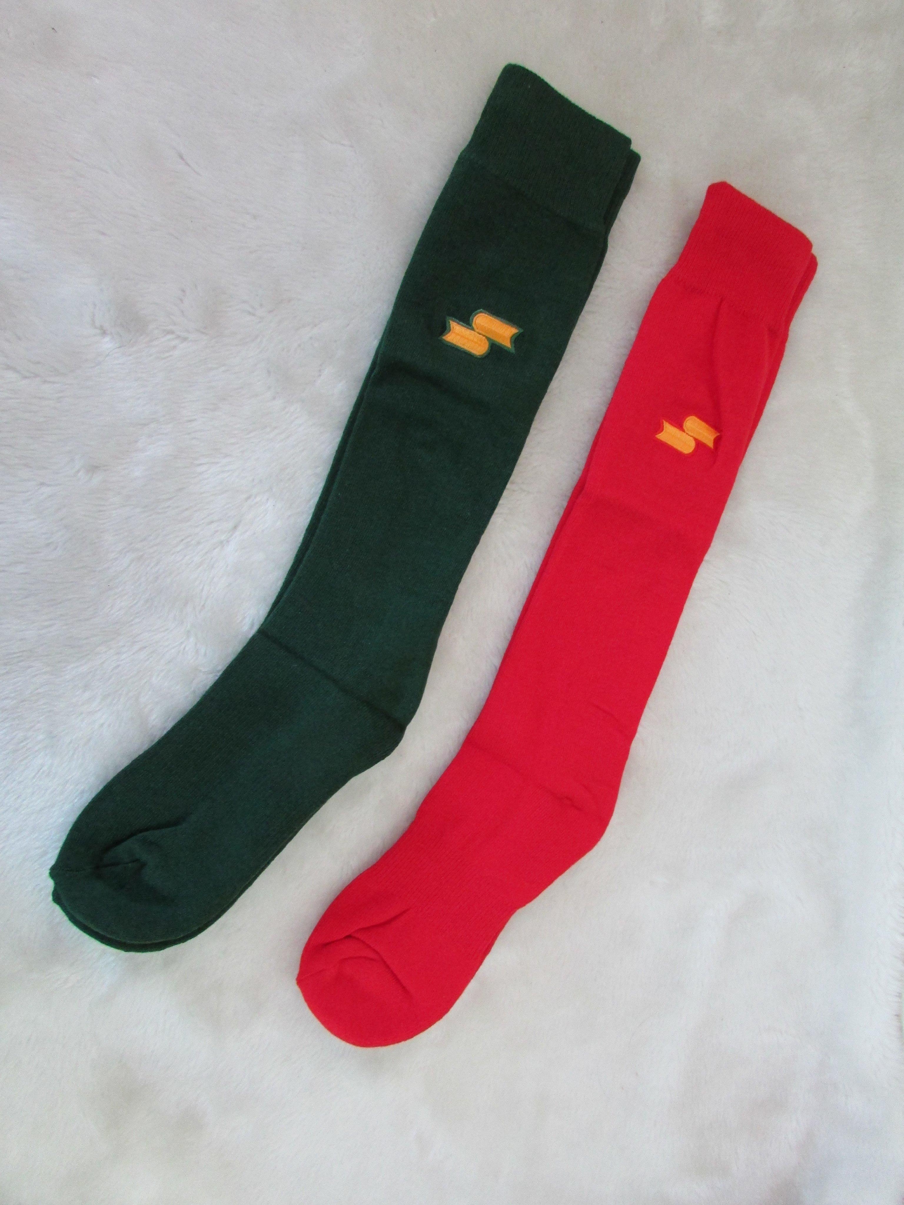 荒郊野外工作室 SSK及膝棒球長襪 棒球襪  紅 / 墨綠