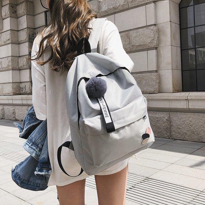 鏈條 百搭 復古 歐美 時尚書包女韓版原宿  高中學生校園雙肩包潮流簡約帆布軟妹背包