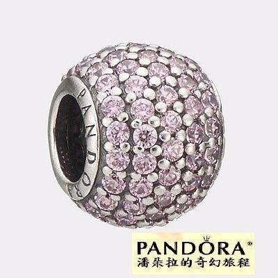 潘朵拉PANDORA~Pink Pave Ball Pave Mystic Floral串