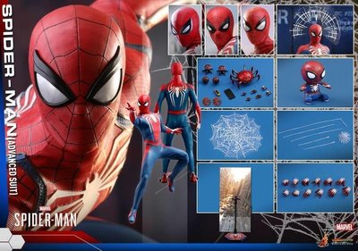++全新 Hottoys 1/6 VGM31 PS4 TV Game MARVEL Spider Man  蜘蛛俠