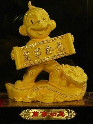 §青山行§☆進口超高檔富貴吉祥(溶金沙媲美純黃金)萬事如意☆附純度卡+高級禮盒☆