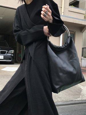 【鈷藍家】暗黑哲學山本風yohji大容量時髦皮革手提包 超好裝 超百搭 超推薦 自留款