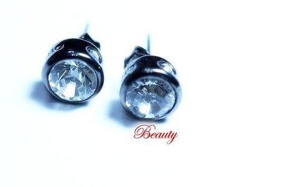 *Beauty*DYRBERG/KERN水晶鑽圓型耳環 全新 單件賣場