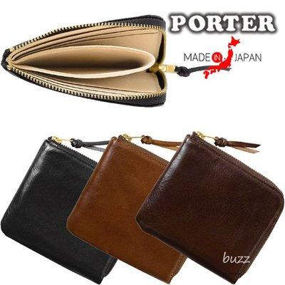 巴斯 日標PORTER屋- 三色預購 PORTER SOAK 牛肩革皮夾-輕便型短夾 101-06056