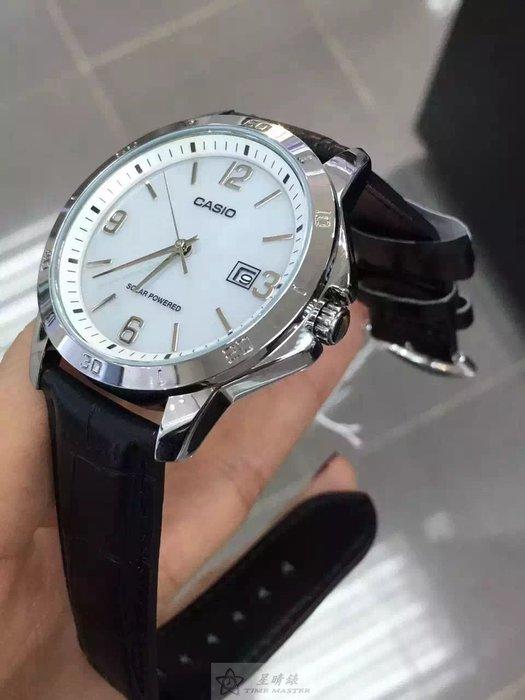 太陽能!太陽能!甩掉換電煩惱CASIO(卡西歐) 太陽能腕錶39mm錶盤藍面鋼帶生活防水。正品保固1年!男女都可以戴喲!