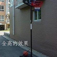 【移動籃球架-鐵管+塑膠-吹塑籃板-高205-305cm-1套/組】可升降調節高度(不含球)-56007