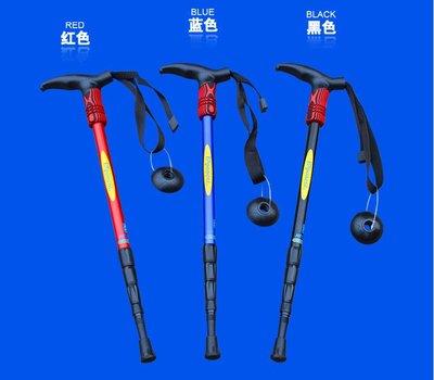 【用心的店】EXPONENT輕量型6061航太級鋁合金直柄4節式登山杖 EVA軟木把 避震功能