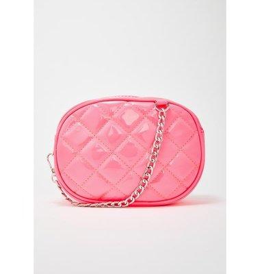 【丹】DK_CANDY HIGH CLASS QUILTED FANNY PACK 粉紅色 腰包 手提包