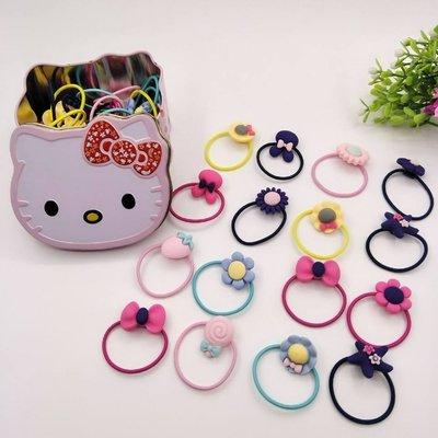 kitty貓鐵盒卡通髮圈