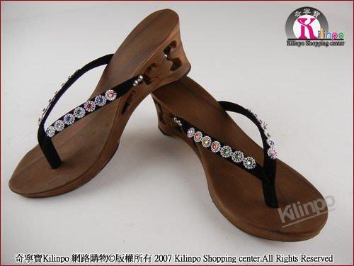 [奇寧寶生活館]250116-00 卡舒胡 手工 原木 碳烤 木屐 人字 夾腳 涼鞋 (5938) / 沙灘 拖 鞋