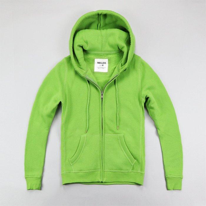 【MELEK Clothes】【MELEK】MELEK女款棉質連帽外套全素款綠 I01140124-08