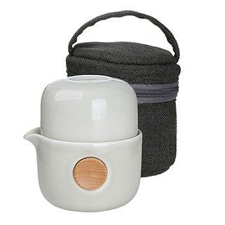 免運【回甘草堂】宜龍 QUICKER布包雙享泡-亮灰(250ml) 泡茶利器 隨時隨地可泡茶