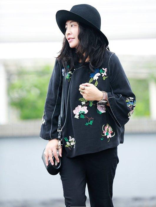 子芸芳--  原創17款重工繡花真絲銅氨絲中國風外套 看六