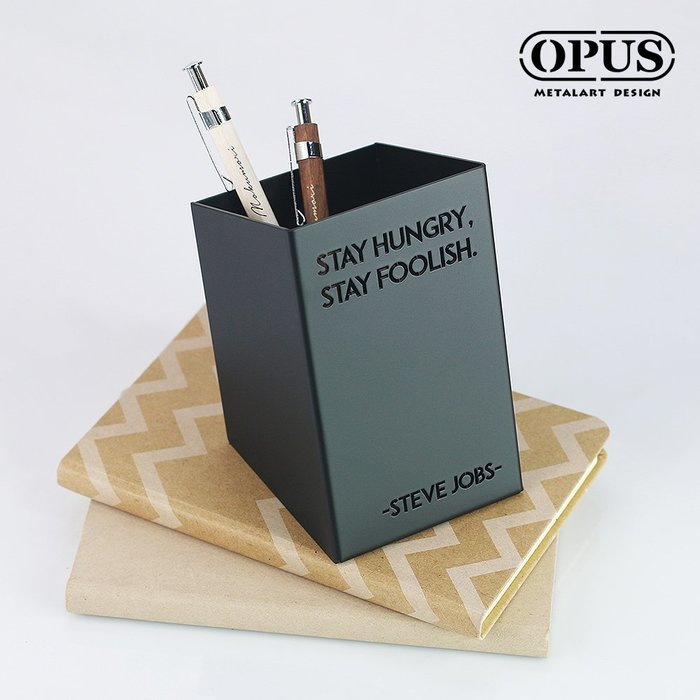 歐式鐵藝筆筒-賈伯斯(經典黑) 桌上整理 辦公文具 小物收納 收架筒 金屬文青筆座 【OPUS東齊金工】PE-st20B