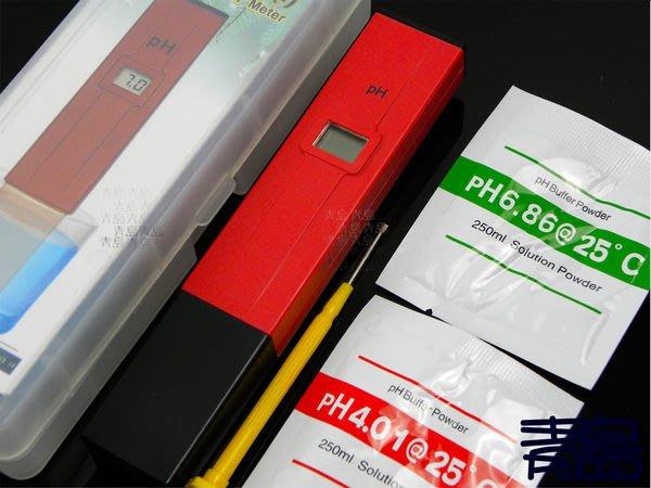 Y。。青島水族。。AF-007R美國ATC-精準 PH 酸鹼 測試 PH筆(單點效正/CE認證/送校正粉)==紅色簡易款