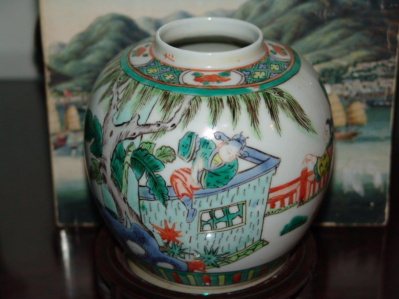 阿國的收藏˙˙民國初五彩茶葉罐