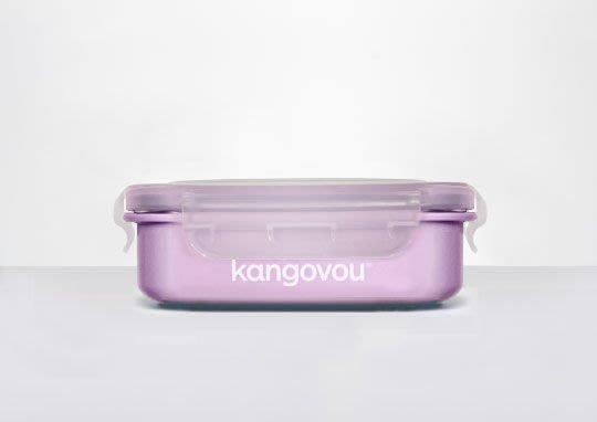 【魔法世界】美國 Kangovou 小袋鼠不鏽鋼安全餐盒320ml