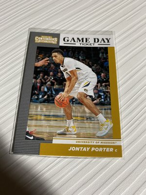 Jontay Porter 2019 CONTENDERS #23 game DAY TICKET
