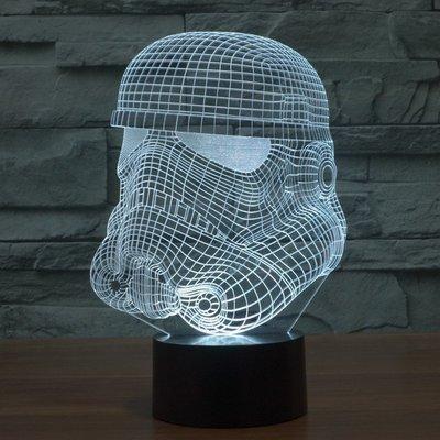 【老馬LED禮品店】3D燈小夜燈 3D七彩遙控燈 星際大戰夜燈遙控觸摸檯燈 創意生日禮物