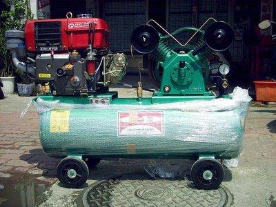 【專業洗車設備の店 】全新 6HP柴油引擎空壓機-低壓