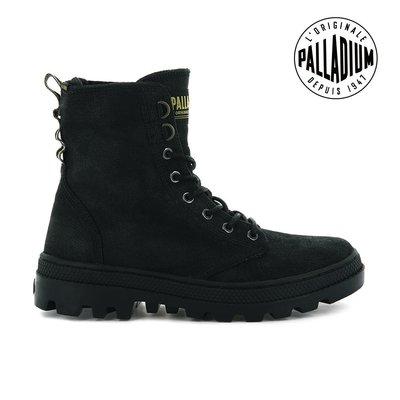 =CodE= PALLADIUM PALLABOSSE OFF WAXY 仿舊水洗帆布軍靴(黑) 96451-008 女