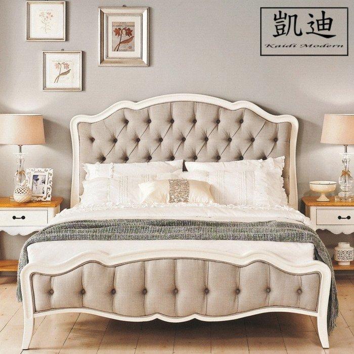 【凱迪家具】M3-008-1 黛西6尺法式象牙白雙人床/桃園以北市區滿五千元免運費/可刷卡