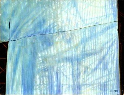 賴炳昇 房屋新建 1981 15號 油畫 (油彩、新寫實、台灣、雲林、北港、本土、東方畫會)