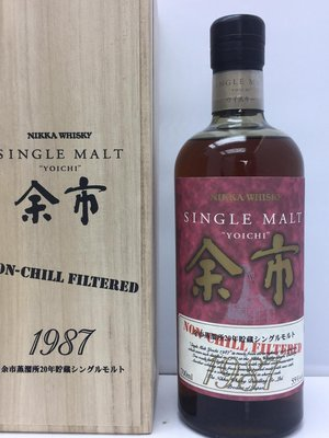 Yoichi 1987 20 years Single Malt Whisky 700ml 余市 1987