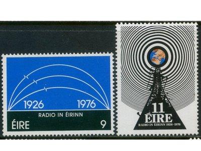 郵紳_50273_愛爾蘭共和國_愛爾蘭廣播(50週年)_1976年_一套2全_原膠新票_美品如圖_背潔無貼_低價起標