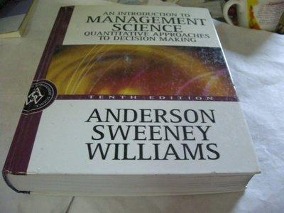 買滿500免運&- ,有光碟-An Introduction to Management Science: Quantitative Approaches