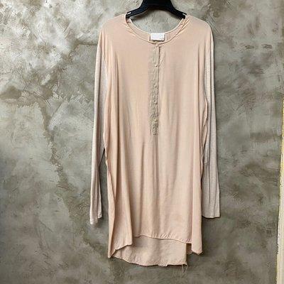 preen by thornton bregazzi 三階裸色十足慵懶柔軟的開襟長版上衣 棉質洋裝 肩49 胸60長95