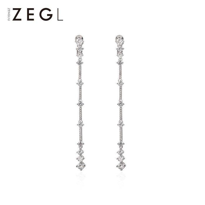 ZEGL高級感耳夾耳環女法式優雅百搭耳釘氣質長款耳墜無耳洞耳飾品  衣品居 YPJ