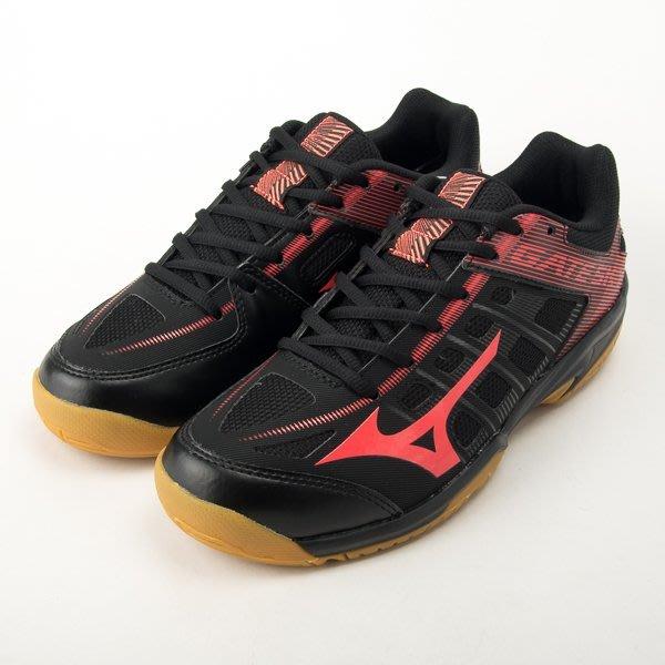 Mizuno 美津濃 GATE SKY 羽球鞋-黑/紅 大尺碼 71GA194064  現貨