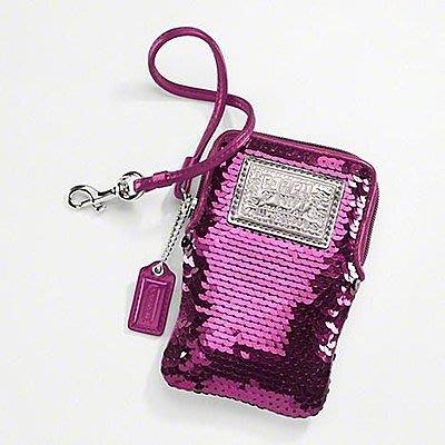 [美國SHOP] COACH 60681 POPPY SEQUIN UNIVERSAL CASE 手機套現貨在台