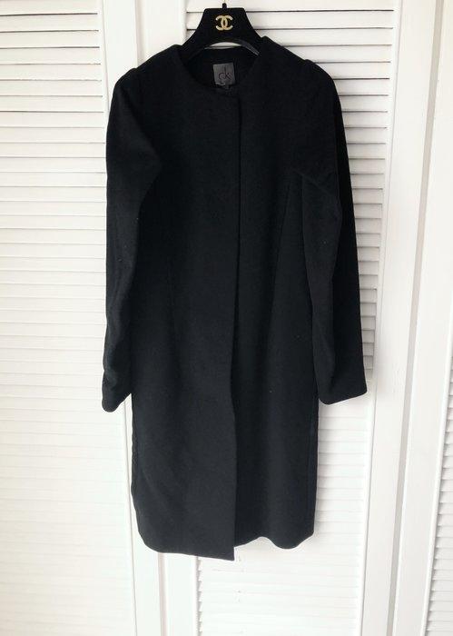 原價五萬多 CALVIN KLEIN CK 裹型黑色羊毛+喀什米爾長大衣