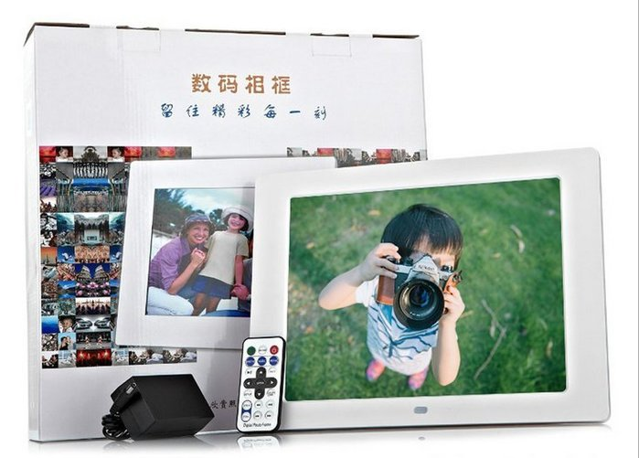 12寸支援全格式播放 高清LED屏多功能數碼相框/廣告機/電子相冊