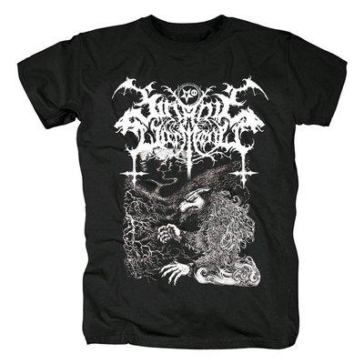 芬蘭Satanic warmaster惡魔的戰帥黑色金屬Nachzehrer封面黑色T恤
