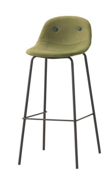 【DH】商品編號G1032-6商品名稱斯爾華吧椅/綠色布(圖一)備有灰布色可選。主要地區免運費