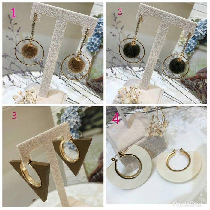 ~璦藏新娘飾品~韓國精緻限量耳環~(耳針式.也可改耳夾)