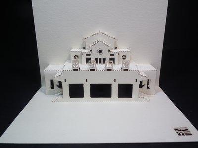 [ 限定款] 台灣原創設計 杰作:3D懷舊高雄火車頭 手作創意雷雕 生日萬用感謝立體卡片