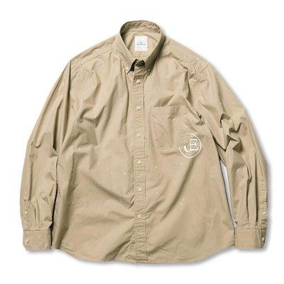 21SS Uniform Experiment DRIPPING BIG B.D SHIRT 全新正品公司貨 現貨 UE 可刷卡分期 下標請詢問 潑漆