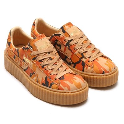 =CodE= PUMA SUEDE CREEPER CAMO RIHANNA 迷彩增高厚底鞋(卡其)362341-01