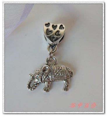 Φ小姿族ΦDIY專屬自己的創意手鍊 立體雕花垂墜雙面泰國象串飾 DIY創意展現個性 表達自我手鍊 古銀色款
