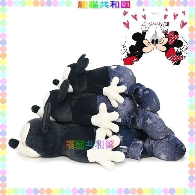 ※龍貓共和國※日本Disney迪士尼《Nemu Nemu米老鼠米奇 牛仔抱枕 可愛趴睡療癒 特大絨毛玩偶娃娃60公分M》