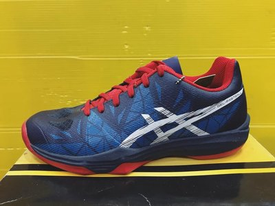 ASICS亞瑟士 男女款 GEL-FASTBALL 3 室內運動鞋 排球鞋 羽球鞋 THH546-5001 藍紅  現貨