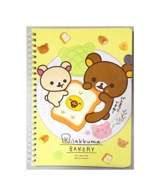SAN-X RILAKKUMA拉拉熊25開線圈筆記本 記事本 記錄本