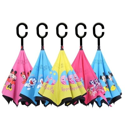 反向傘兒童小孩傘女折疊幼兒園小學生太陽公主傘超輕迷你卡通雨傘