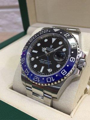 「 已交流」Rolex 勞力士 2019年 116710 BLNR GMT 蝙蝠俠 女用一手錶 藍黑圈 兩地時區 非綠水鬼 116610 114060