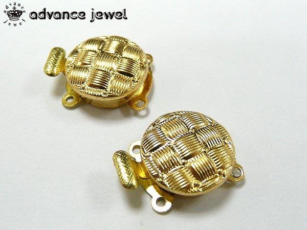 【寶峻鹽燈】DIY手創素材~復古金色圓形流行鏈頭,手鍊/項鍊扣環配件JF-37